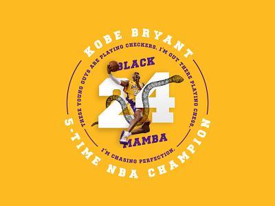 Black Mamba lakers mamba snake basketball typogaphy kobe bryant illustration badges typography branding packaging identity logo