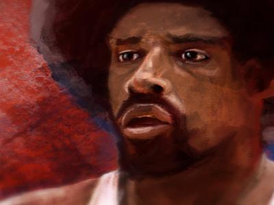 Dr. J Digital Painting sports sportsart digitalpainting painting basketball drj