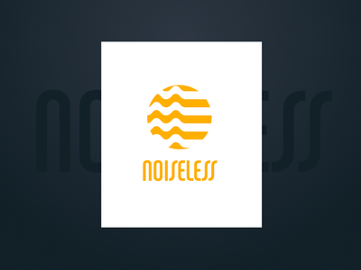 Noiseless Project sound wave logo noise sound noiseless