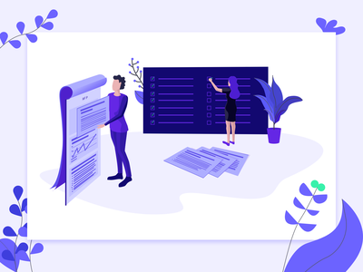 Client Handbook - Get More From Your RFP design agency business rfp plants purple todolist checkbox article design character design woman character illustrator illustration