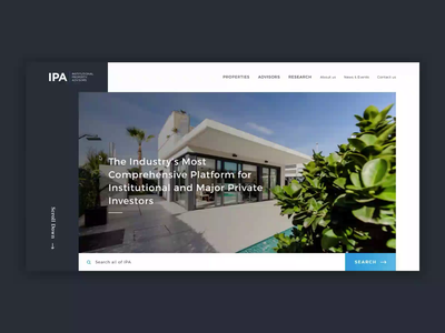 Ipa  -  Homepage advisor property search properties investment realestate homepage home ipa