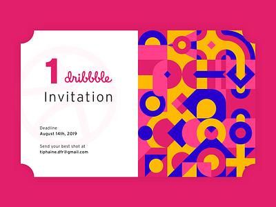 Dribbble Invite illustration dribbblers join ball join dribbble dribbble invitation draft pink ticket geometric coupon invitation giveaway dribbble dribbble invite