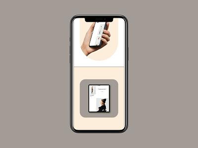Lab Series iphone mobile main minimal promo website design ux ui web