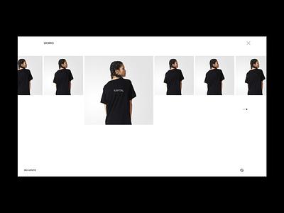 AY / 001 main website minimal design ux ui web