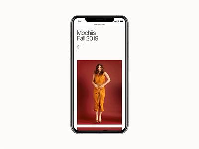 Leah Perry mockup iphone brand mobile interface minimal website design ux ui web