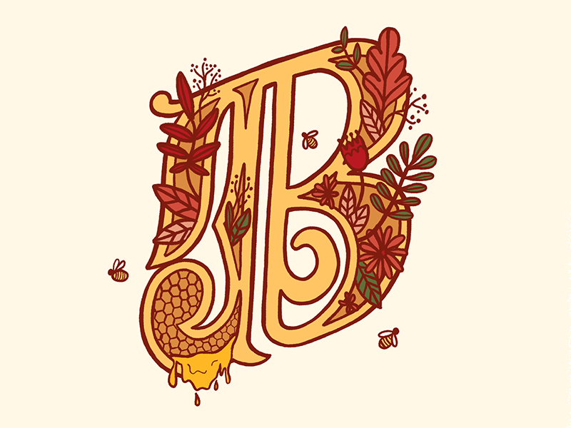 36 Days of Type - B texture hand lettering lettering calligraphy b letter 36 days of type