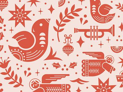 Christmas Ornament (pattern) pattern ornament christmas retro icon illustration vintage