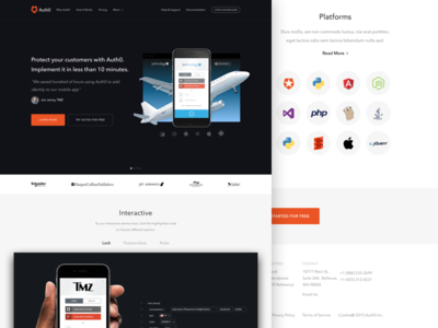 Auth0 landing product homepage