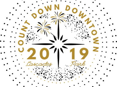 Countdown Downtown Tallahassee streetparty web typography vector logo illustration