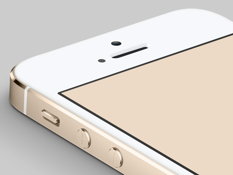 Gold iPhone 5S PSD  apple iphone iphone5s gold champagne free download psd photoshop