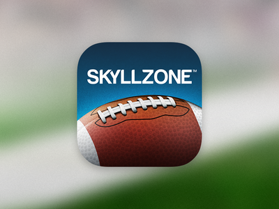 Skyllzone iOS App Icon apple ios iphone football icon app pigskin sport leather texture photoshop