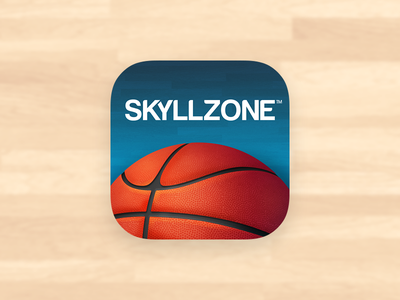 Skyllzone Basketball iOS App Icon basketball ios app icon sports fantasy team ios7