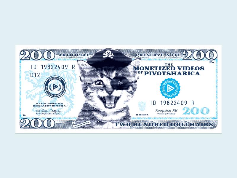 Stupid Pirate Kitten Money pivotshare money cat vidcon promo pirate kitten
