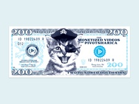 Stupid Pirate Kitten Money