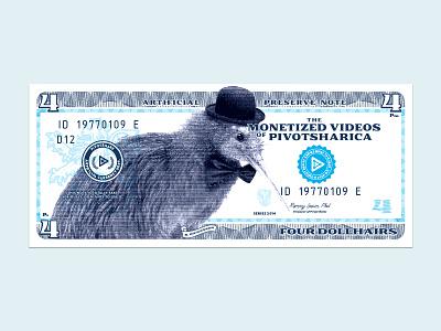 Stupid Refined Kiwi Money pivotshare kiwi bowler hat bowtie money fake bucks australia new zealand