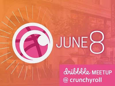 SF Dribbble Meetup @ Crunchyroll HQ—June 8 at 7pm pink orange fun party drinks anime crunchyroll meetup
