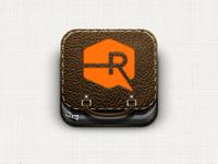 Portfolio iOS icon: Brown Leather