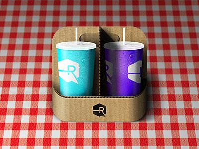 Drink Carryall iOS icon app drinks soda ios iphone icon ipad apple fast food picnic dew drops cup cardboard