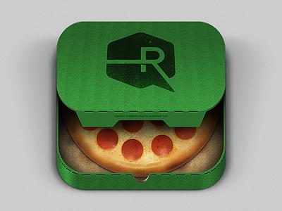 Pizza App iOS Icon pizza pepperoni app ios iphone ipad apple cheese crust box soggy