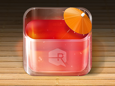 Fruit Punch iOS App Icon fruit punch glass umbrella touch app ipad apple ipod iphone