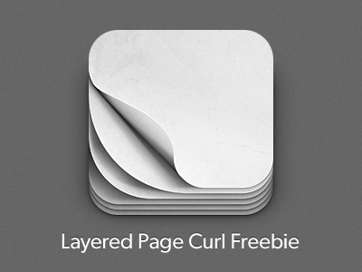 iOS Pagecurl Icon Freebie free ios iphone apple app ipad ipod touch paper curl page read texture