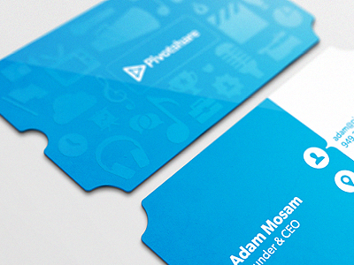 Ticket Business Card business card biz bizcard diecut die-cut spot uv