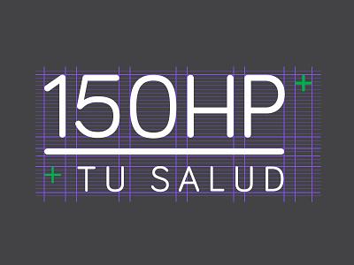 150HP logo brand identity