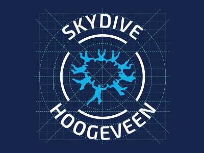 Skydive Hoogeveen Logo concept dropzone grid identity skydive logo
