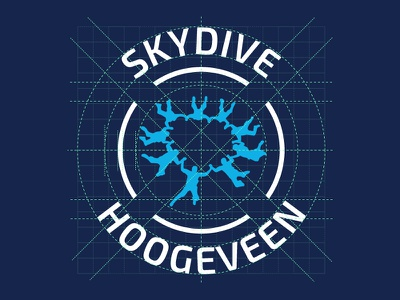 Skydive Hoogeveen Logo concept dropzone grid identity skydive logo