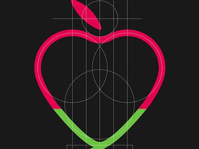 Medical logo organisation student design logo food apple heart