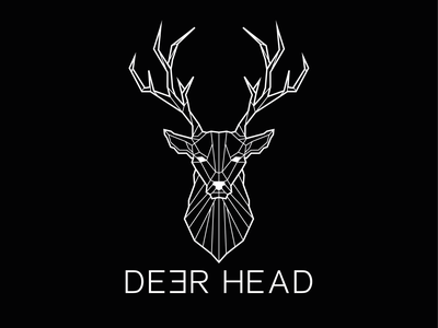 Logo Deerhead 🦌 icon branding illustration graphic  design logo