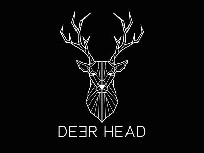 Logo Deerhead 🦌 icon branding illustration graphic  design logo