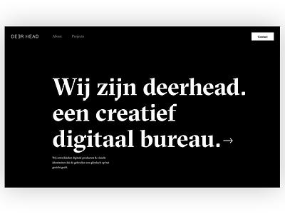 Sneak preview Deerhead website 🦌 web ux ui design illustration typography