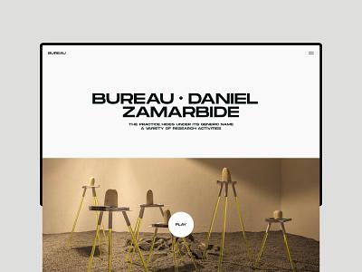 Bureau - Website white website web visual design ui ux typography photography minimal layout interrior grid flat clean branding black architecture