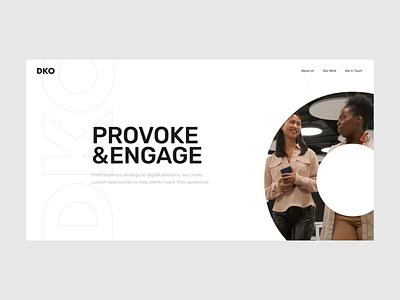 DKO - Hero animation white website web visual design video ui ux typography photography minimal layout hero grid flat digital corporate clean branding animation