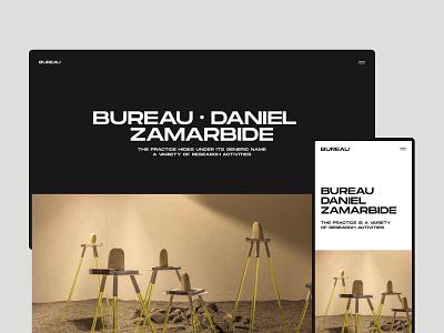 Bureau - Website NO.2 white website web visual design ui ux typography photography minimal layout interrior grid flat clean branding black architecture