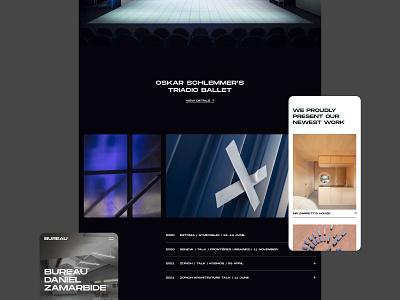 Bureau - Website NO.4 white website web visual design ui ux typography photography minimal layout interrior grid flat design clean branding black architecture 2020