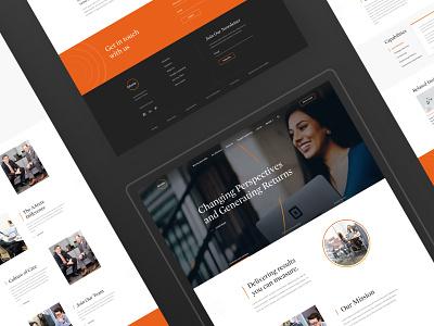 AArete - Consulting Firm Website website web ui portfolio layout orange design creative clean black