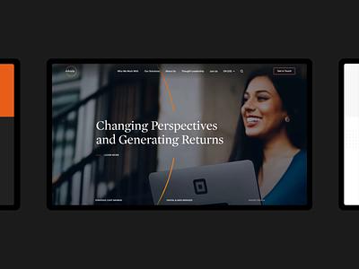 AArete - Consulting Firm Website NO.2 corporate website web ui portfolio orange layout design creative clean black