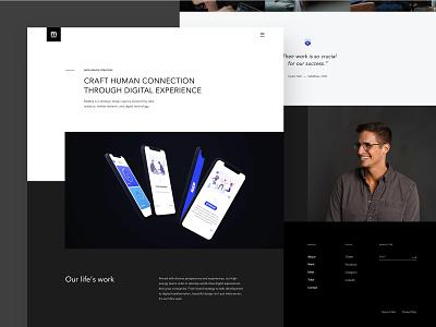 Mabbly - Design Agency Website NO.1 white portfolio trend 2020 creative minimal agency webdesign black ux layout design flat website clean ui web