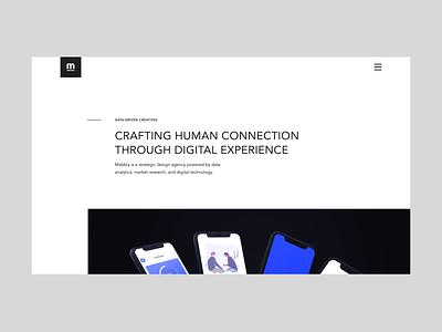 Mabbly - Design Agency Website NO.2 white website web ux ui trend portfolio minimal layout flat design creative clean black agency 2020