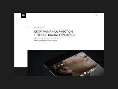 Mabbly - Design Agency Website NO.3 ux ui white website web trend portfolio minimal layout flat design creative clean black agency 2020