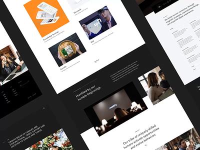 Mabbly - Design Agency Website NO.4 white website web ux ui trend portfolio minimal layout flat design creative clean black agency 2020