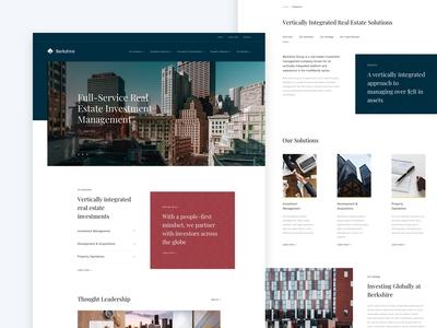 Berkshire Investments Digital Experience - Web Design