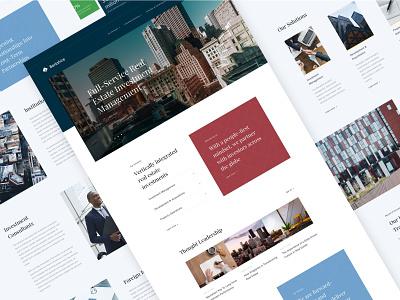 Berkshire Digital Experience - Design Layouts real estate webdesign website ux clean ui web 2019