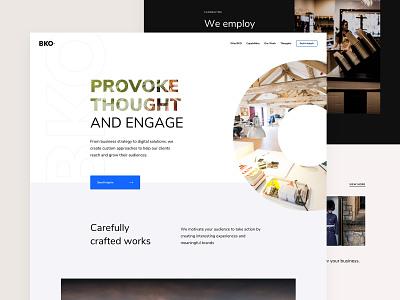 Digital Agency Homepage white web design web ux ui typography design clean 2019