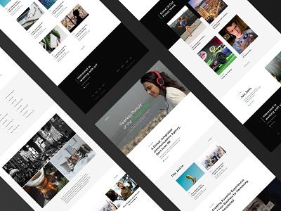 PR Agency Website black website web video ui portfolio layout green design creative clean