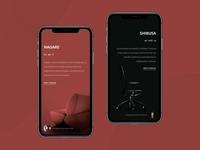 Okamura - Furniture Company Landing Page