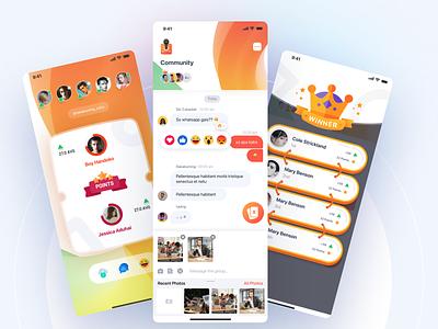 Exploration Doubles App results rangking leatherboard rewards clean orange messaging picks chat doubles gradient games mobile