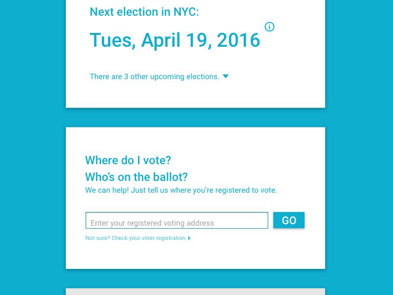Voting Information UI data election product design ui ux voting